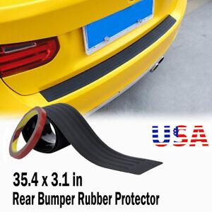 Car Trunk Rear Bumper Scratch Car Black Protector Plate Rubber Cover Guard Pad