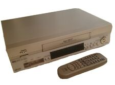 More details for jvc hr-s6855 super vhs svhs vcr video player recorder remote tested and working