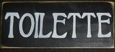 TOILETTE Bathroom Paris Flea Market Sign French THE LOO Plaque Wood U Pick Color