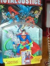 TOTAL JUSTICE SUPERMAN WITH KRYPTONITE RAY EMITTER MOC FREE U.S. SHIPPING