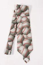 "Vintage Ralph Marlin 1995 ""Just Balls - Baseballs'"" Necktie 56"" neck tie multi"