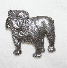 BULLDOG English Bull Dog Fine PEWTER PIN Jewelry Art USA Made