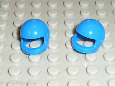 Lot de 2 casques LEGO Minifig blue Helmet 2446 / Sets 7903 6346 7738 4210 6990