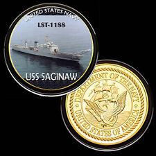 USS Saginaw (LST-1188) GP Challenge pinted Coin