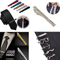 Men's Metal Steel Plated Simple Necktie Tie Bar Clasp Clip Clamp Pin Gold&Silver