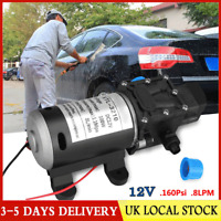 12V 160Psi High Pressure Diaphragm Self Priming Water Suction Pump 8Lpm Wash