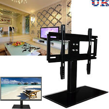 Universal Black Glass TV Stand with Bracket for LED LCD Plasma 37 - 55 inches