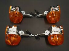 New Suzuki GT750 Set Of 4 Indicators Excellent Quality Chrome / Blinkers Winkers