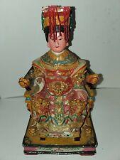 "Madera Pintada chino Wangmu reina madre emperatriz estatua 12"" Leer"