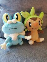 Pokemon Plush Lot Of 2 Froakie and Chespin Generation 6