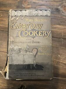 Mrs Beetons Everyday Cookery And Housekeeping Book Coloured Plates 1893