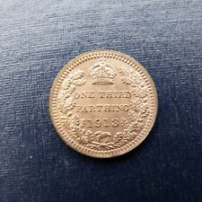More details for 1913 george v third farthing recieve the coin pictured free uk p&p