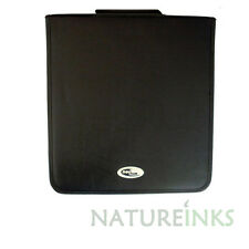 1 x Neo 240 Synthetic Leather CD DVD discs storage carry wallet strong zip