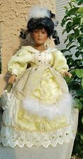 """Beautiful African American Porcelain Doll Vanessa 16"""" by Timeless Treasures"""