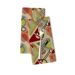 Art Deco Decor Retro Geometric Home Cotton Dinner Napkins by Roostery Set of 2