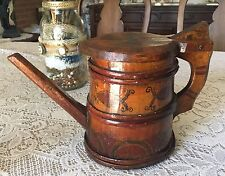 18th Cent. Kronenberg Beer Hand Made Wooden Pitcher - Unique! - Farm Branded!