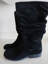 Kenneth Cole Reaction Bi King Boots Black Suede Leather Size 7 Gorgeous!