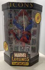 Marvel Legends Icons Spider-Man 12? Toy Biz 2006- RARE Variant ?Beast? Label!!