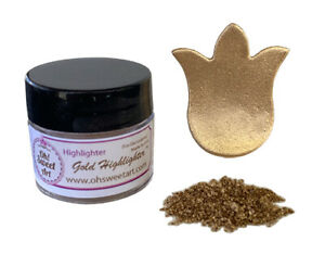 GOLD HIGHLIGHTER Metallic Dust Cake Fondant Wedding Decorating 4 grams USA