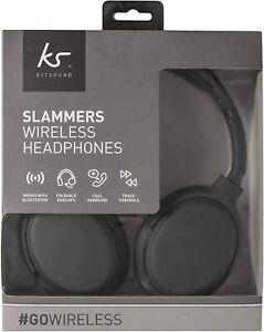 KitSound Slammer Headphones Wireless Bluetooth Gaming iOS PC On Ear with Mic