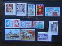 France 1976 Red Cross 1978 Philatelic Creations Tennis 1985 1986 Red Cross MNH