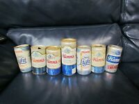 Lot of 7 Vintage Hamm's Empty Beer Cans Pull Top