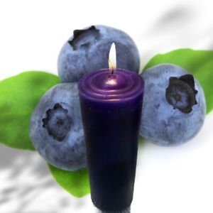 Blueberry Scented Pillar Large Candle 100% Natural Paraffin Wax (Oak Candles)