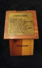 ***RARE*** VINTAGE WOODEN GO TO CHURCH BANK