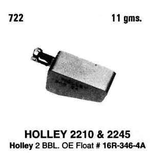 Carburetor Float-VIN: K Tomco 722