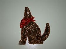 New Southwestern Wolf or Dog Red Bandana Sequin Bead Applique Patch Free Ship