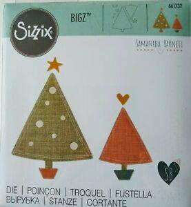 Sizzix BIGZ Die OH CHRISTMAS TREE(S) #661732 Retired 2016 Big Shot felt tin card