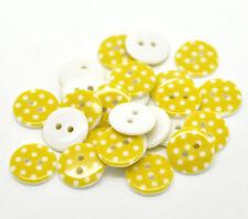 Botones de costura color principal amarillo