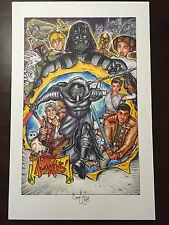 Star Wars The Force Awakens 11x17 2 Illustrations Original Art by Chris McJunkin