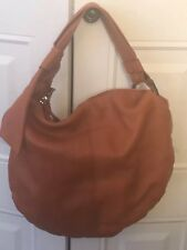 Preowned Gucci Jungle Bamboo  Medium Hobo In Orange Leather