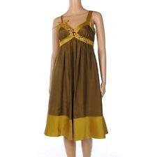 Acetate Patternless Formal Sleeveless Dresses for Women