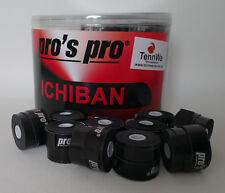 TennWaTipp: 10er Pack Pros Pro Ichiban Griffband, Schwarz, Overgrip 0,6mm