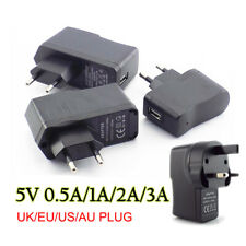 Adaptateur Alimentation chargeur USB 5V 1A 2A 3A AC DC Universal Power Adapter