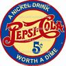 PEPSI-COLA Nickle Drink Worth a Dime Vinyl Decal Sticker 4288