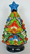 "Traditional Mexican Talavera Pottery Christmas Tree 17"""