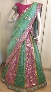 women's bollywood indian wedding heavy bridal lehenga choli