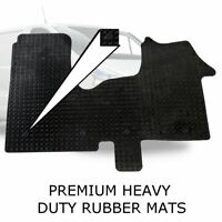 Tailored Rubber Van Floor Mats HDuty Set +Clips for Renault Trafic 2014 onwards