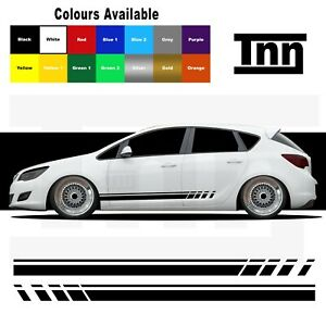 Side Stripe Stickers For Vauxhall Astra VXR SXI SRI Graphics Decals Opel