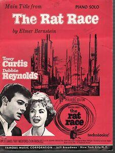 Rat Race 1960 Debbie Reynolds Tony Curtis Sheet Music