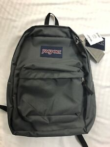 JanSport - Superbreak School Backpack / Bookbag - Forge Grey