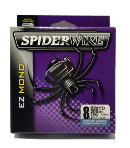 Spider Wire, EZ Mono, 8lb 220 Yard Fluorescent Clear/blue Fishing Line