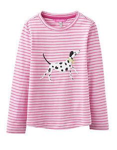 JOULES Tom Joule Shirt Dalmatina Ava pink gestreift Gr. 74 und 80  NEU
