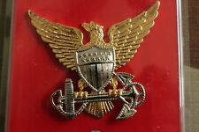 Uscg Us Coast Guard Full Size All O1 - O10 Officer Ranks Combination Cap Badge