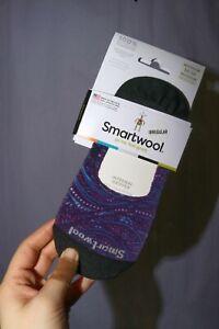 NEW Irregular Smartwool Shiro Swirl Graphic No Show Socks Merino Wool size M