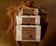 "Handcrafted GOAT MILK SOAP Oatmeal Milk and Honey ""Got Your Goat"" soap 1-2 oz"
