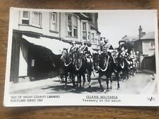 IOW Isle Of Wight County Libraries Military Postcard Yeomanry on the march